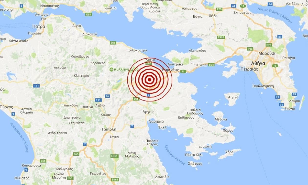 Σεισμός κοντά στην Κόρινθο (pics)