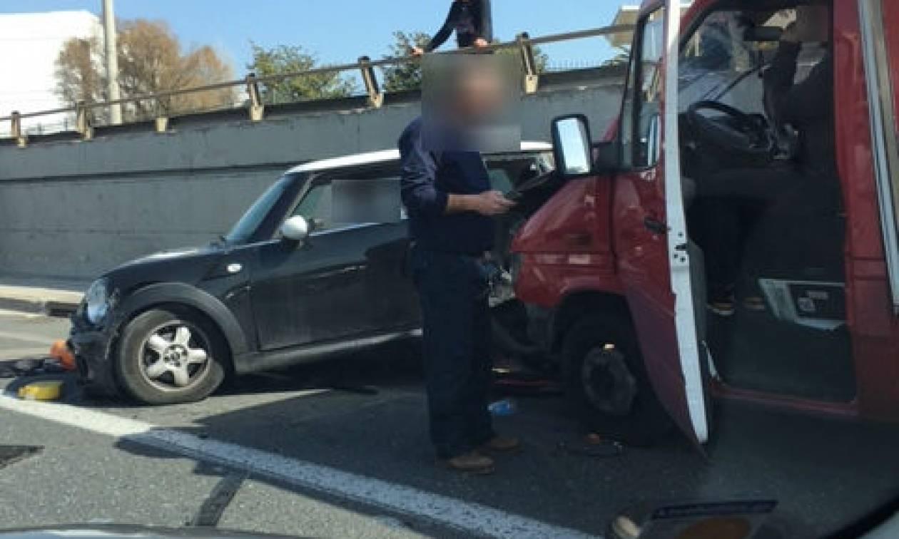 Καραμπόλα με τραυματία στην Εθνική Οδό Αθηνών – Λαμίας (pics)