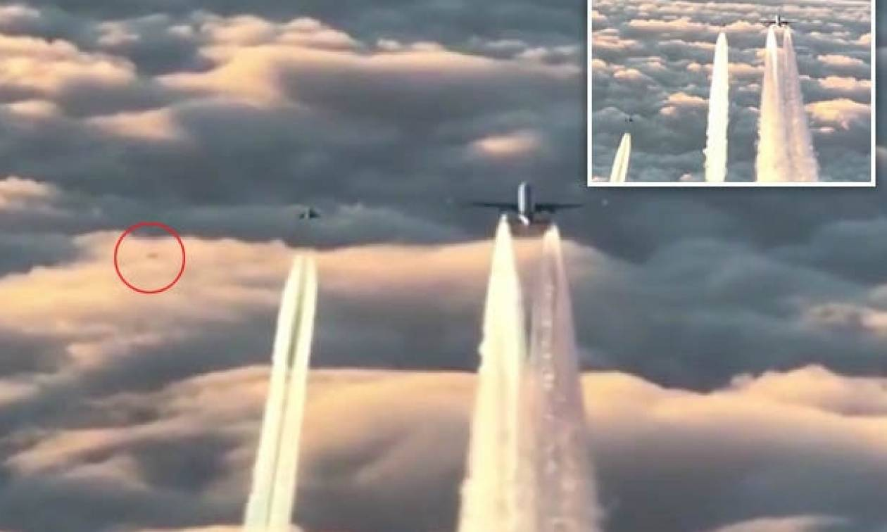 Αεροπλάνο χάθηκε απ' τα ραντάρ και πιλότος κατέγραψε την εμφάνιση... UFO δίπλα του (video)