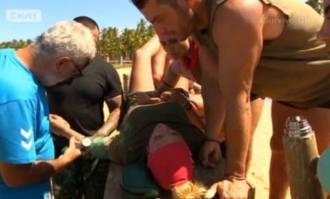 ΣΟΚ στο Survivor: Κατέρρευσε on air η Λάουρα Νάργες - Επί τόπου γιατρός (vid)
