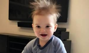 Ο μικρός εγγονός του Τραμπ είναι ένας rock star
