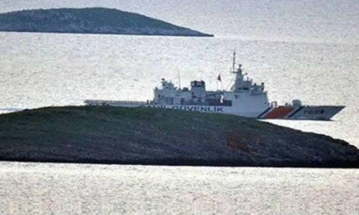 Νέο βίντεο ντοκουμέντο: Σκάφος της τουρκικής ακτοφυλακής έδεσε στα Ίμια