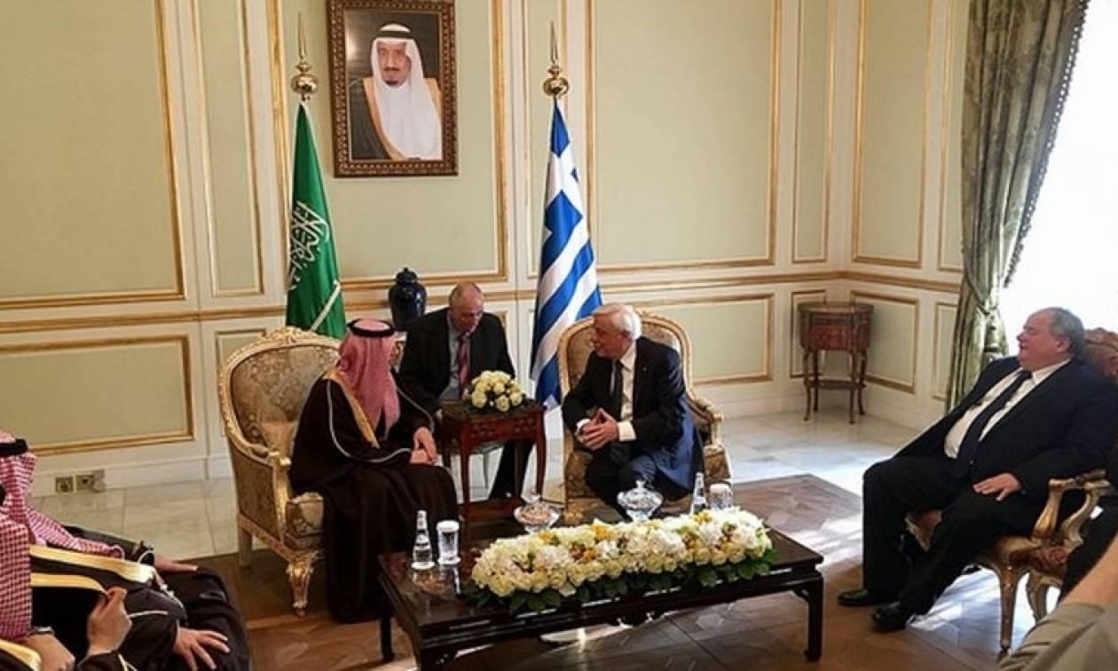 Παυλόπουλος προς βασιλιά της Σαουδικής Αραβίας: Aνάπτυξη νέων οριζόντων από την συνεργασία μας