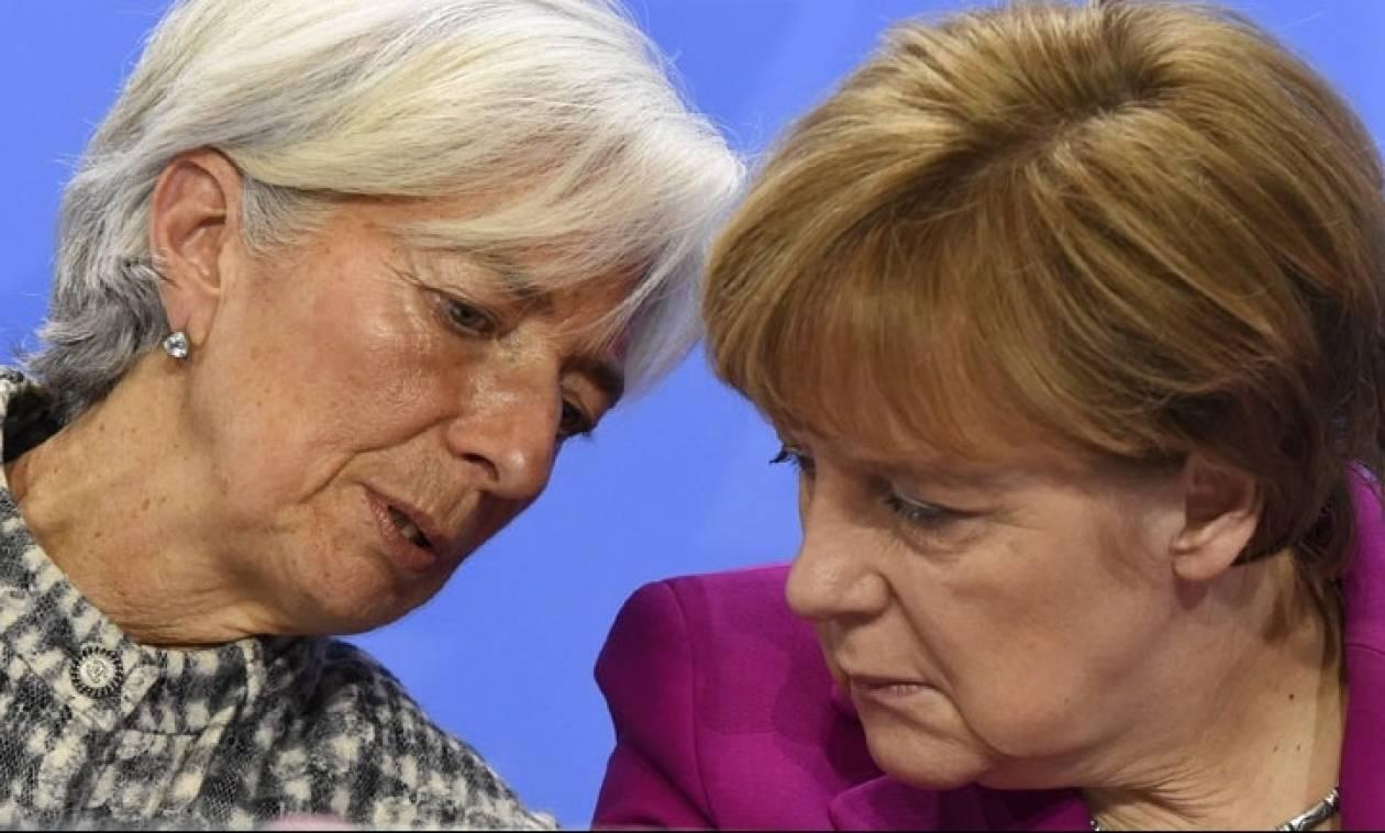 Συνάντηση Μέρκελ - Λαγκάρντ: Χωρίς το ΔΝΤ δεν θα δοθεί δάνειο βοήθειας