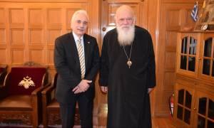 Συνάντηση Ιερώνυμου με τον πρόεδρο του Ελληνικού Ερυθρού Σταυρού