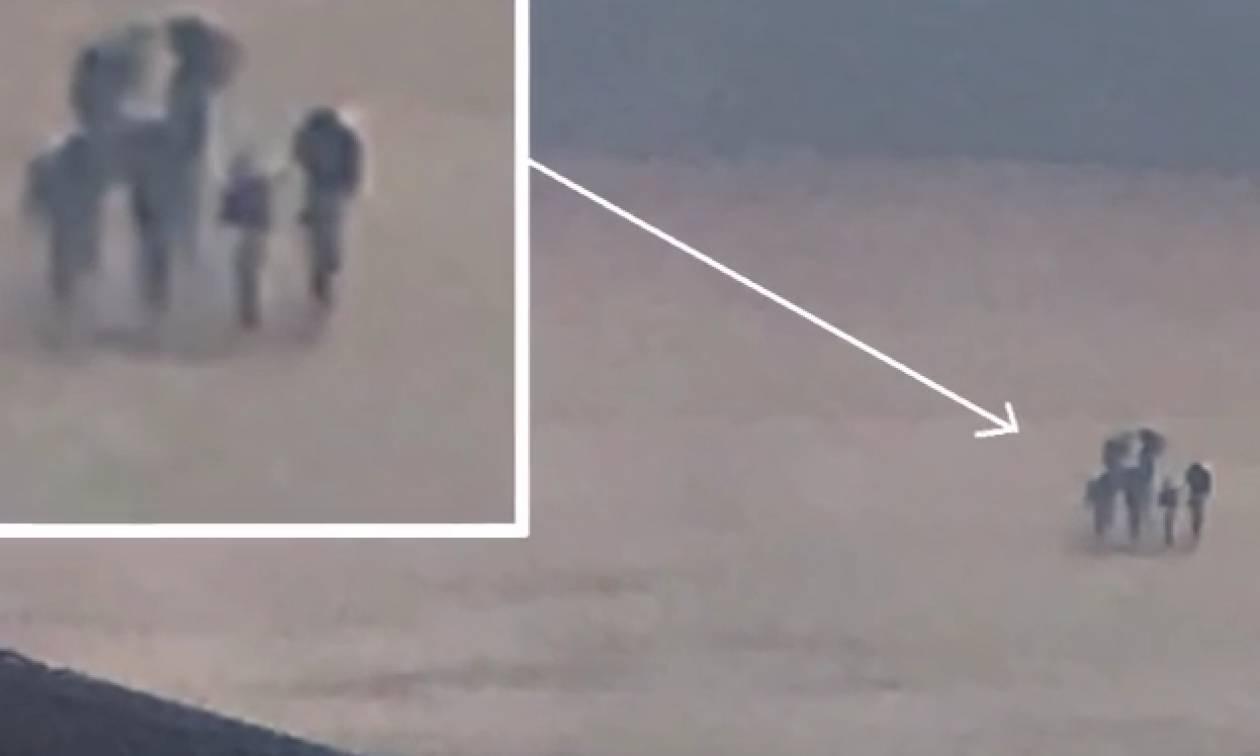 Δεν θα το πιστέψετε: Φωτογράφησε παράξενα πλάσματα να περπατάνε στα σύννεφα (video)
