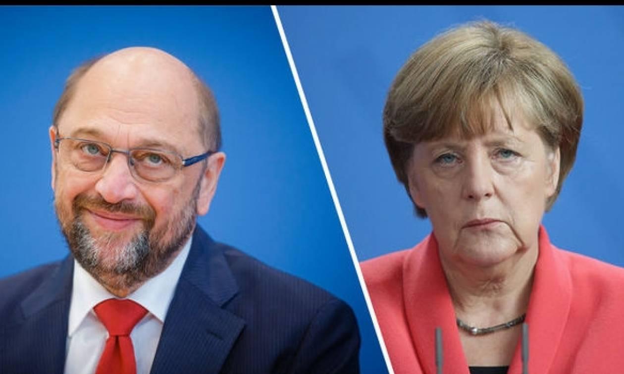 Θρίλερ στη Γερμανία: Προβάδισμα Μέρκελ έναντι Σουλτς σε νέα δημοσκόπηση