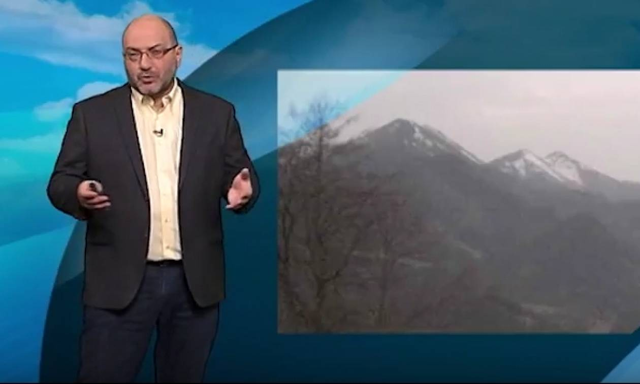 Σάκης Αρναούτογλου: Ερχεται... κοκτέιλ συννεφιάς, σκόνης και βροχών (video)