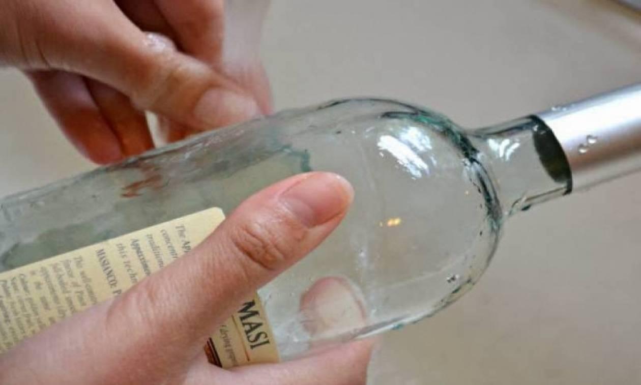 Απίθανο τρικ για να ξεκολλήσετε ετικέτες από ποτήρια και πιάτα (Video)