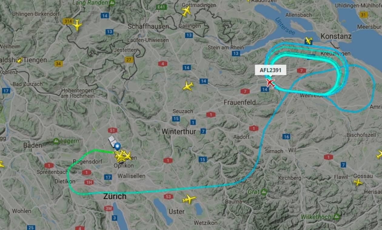Θρίλερ στον αέρα: Φωτιά σε κινητήρα αεροπλάνου – Επιστρέφει στη Ζυρίχη
