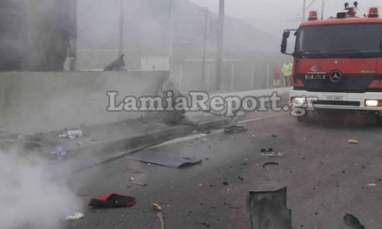 Εικόνες φρίκης από πολύνεκρο τροχαίο στην εθνική οδό Αθηνών - Λαμίας