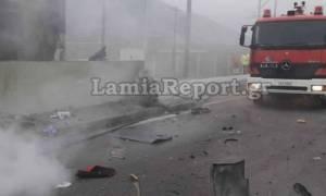 Εικόνες φρίκης από πολύνεκρο τροχαίο στην εθνική οδό Αθηνών - Λαμίας (pics&vid)