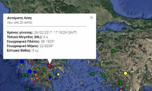 Σεισμός κοντά στο Λουτράκι
