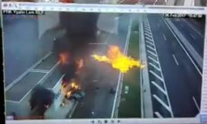 Βίντεο σοκ από το πολύνεκρο στην Αθηνών - Λαμίας: Δείτε τη στιγμή της σύγκρουσης