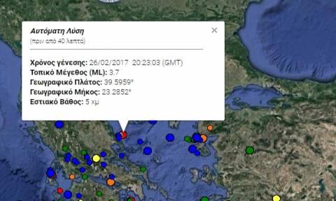 Σεισμός 3,7 Ρίχτερ στο Βόλο