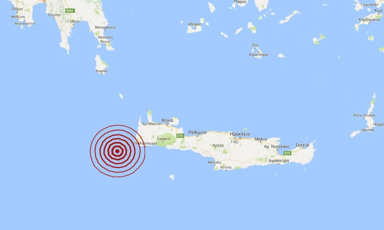 Σεισμός νοτιοδυτικά της Κρήτης (pic)