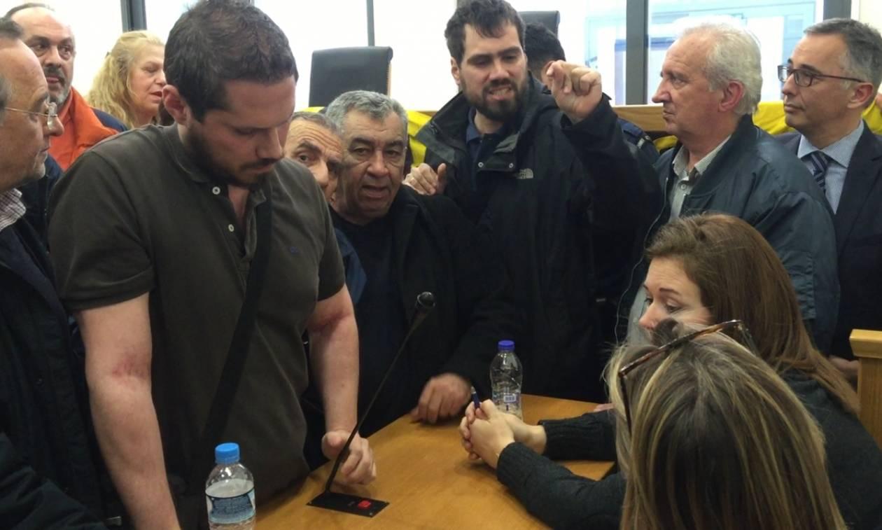 Ένταση στο Ειρηνοδικείο Αθηνών για τους πλειστηριασμούς