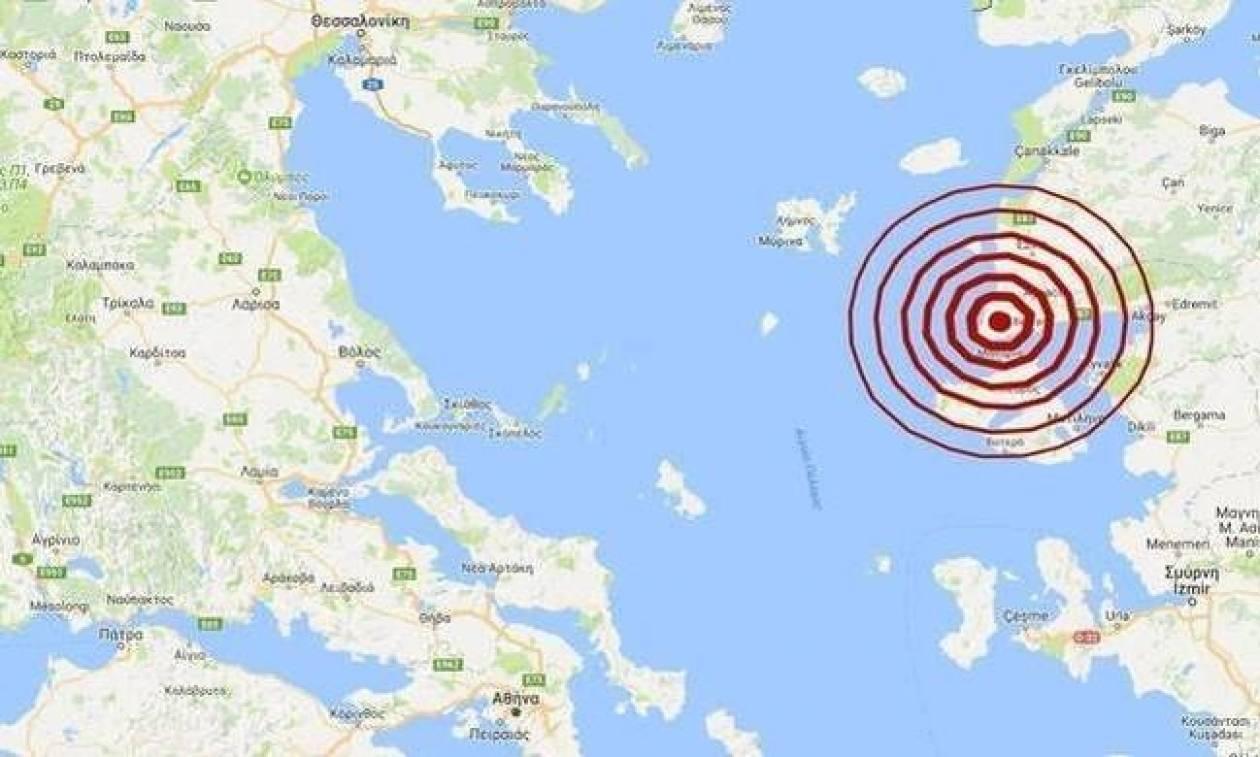 Σεισμός ΤΩΡΑ βόρεια της Μυτιλήνης (pics)