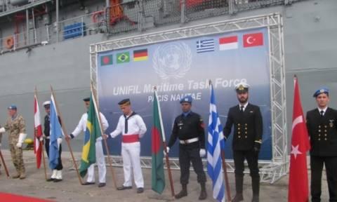 Συμμετοχή του ΠΝ στην Τελετή Παράδοσης-Παραλαβής Διοικητού MTF UNIFIL στη Βηρυτό