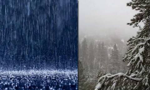 Επιβεβαιώνει η ΕΜΥ: Ερχεται κακοκαιρία διαρκείας με βροχές, καταιγίδες και χιόνια