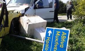 Ναύπλιο: Τροχαίο ατύχημα με τρεις τραυματίες (pics)