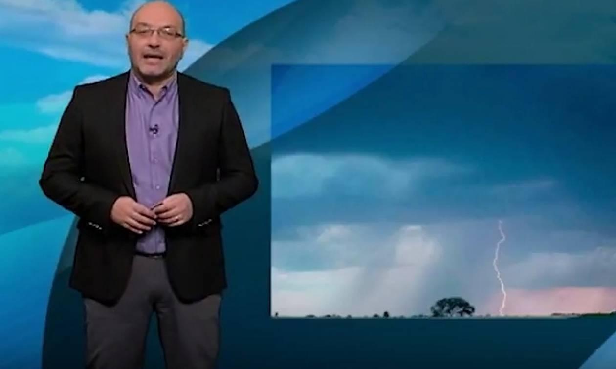 Καιρός: Προειδοποίηση Σάκη Αρναούτογλου για την κακοκαιρία: «Προσοχή! Θα πέσει αρκετό νερό» (video)