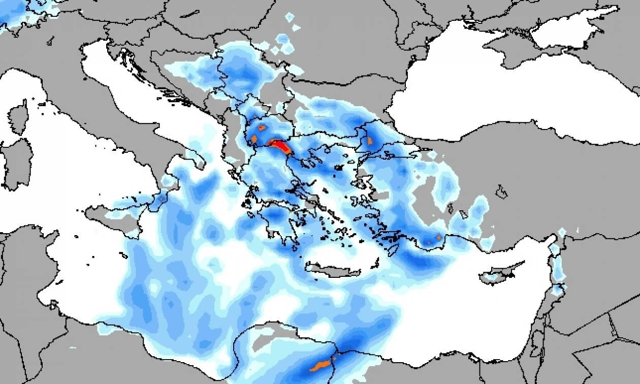 Καιρός ΤΩΡΑ: Η «Γαλάτεια» στροβιλίζεται πάνω από την Ελλάδα