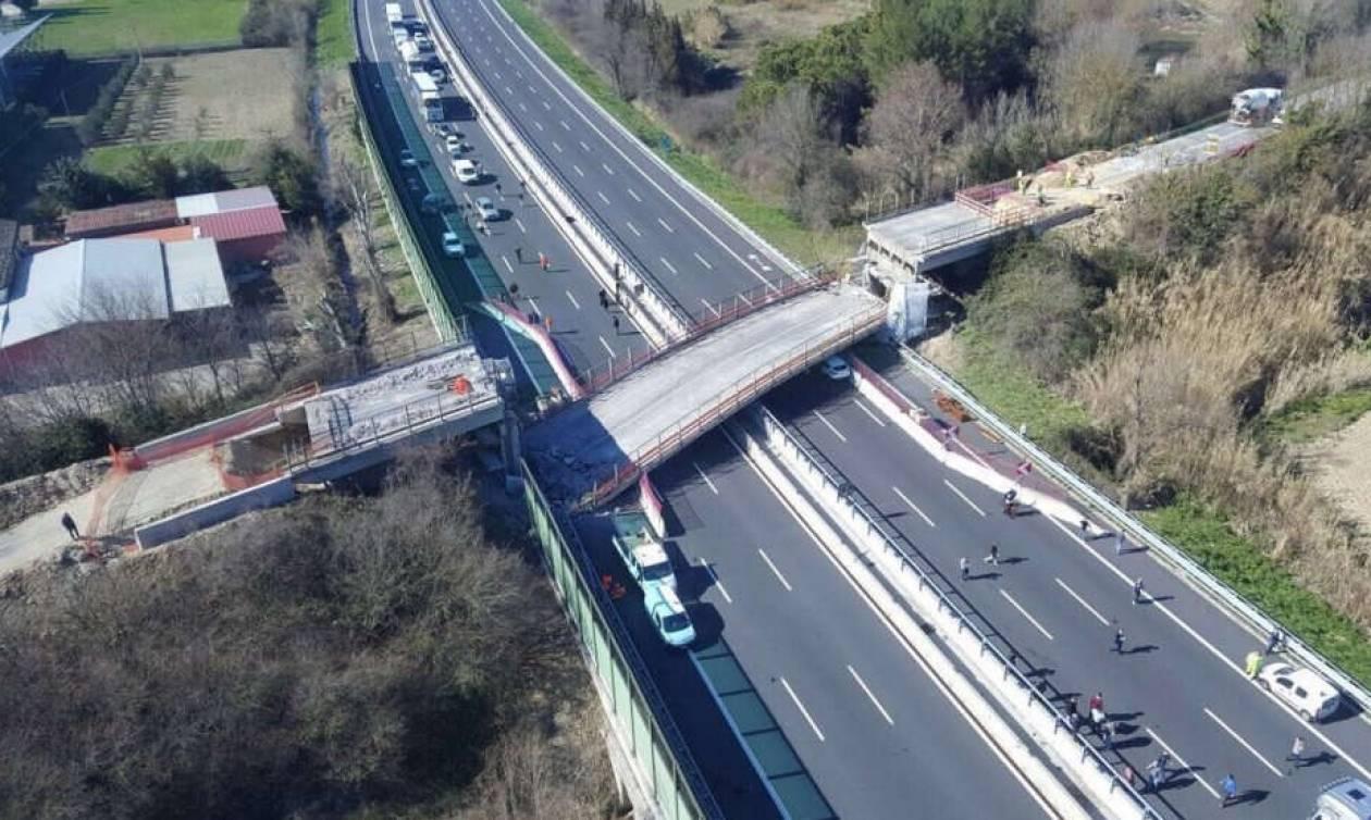 Ιταλία: Δύο νεκροί και δύο τραυματίες από κατάρρευση γέφυρας (pics+vid)