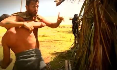 ΣΟΚ στο Survivor: Ξύλο μεταξύ Αγγελόπουλου και Χανταμπάκη - Δείτε το βίντεο