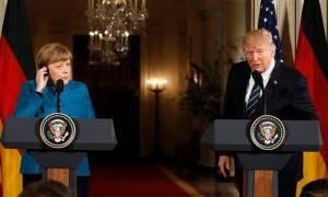 Συνάντηση Μέρκελ-Τραμπ: Προσφυγικό, εμπόριο και Ουκρανία στο επίκεντρο των συζητήσεων