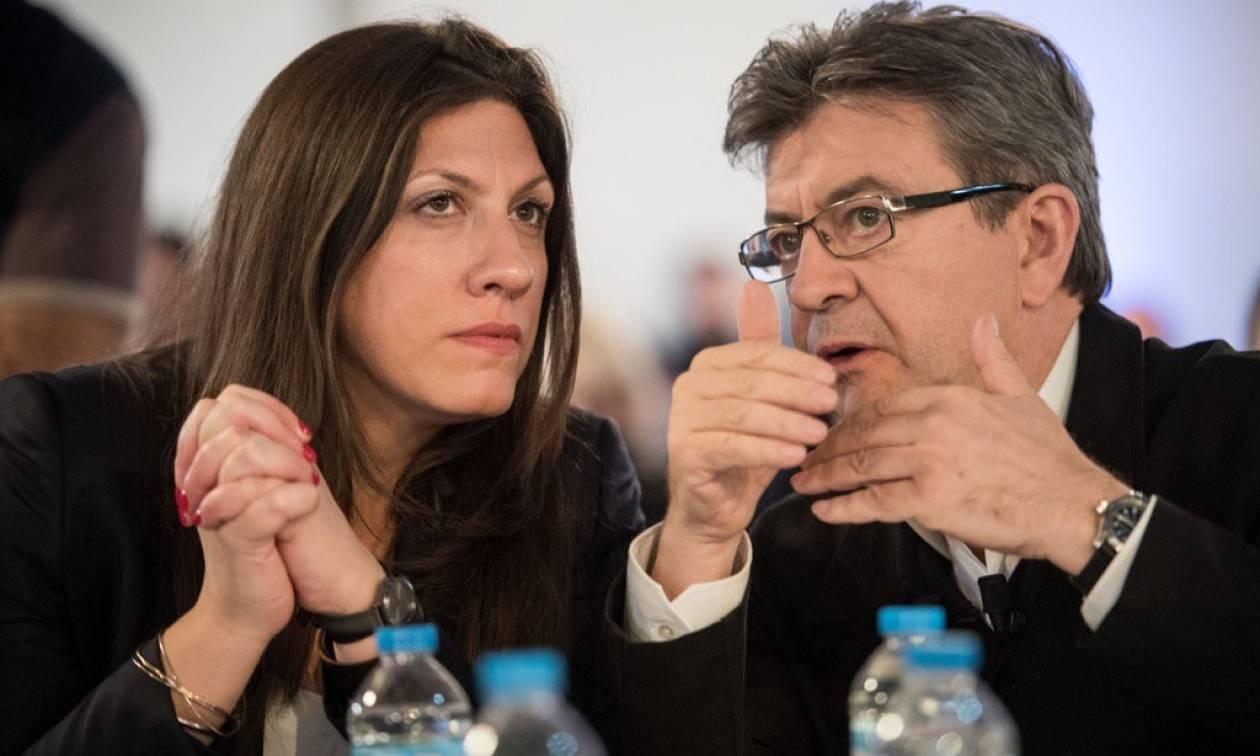 Γαλλία: Κωνσταντοπούλου και Μελανσόν χέρι - χέρι στο Παρίσι (pic)