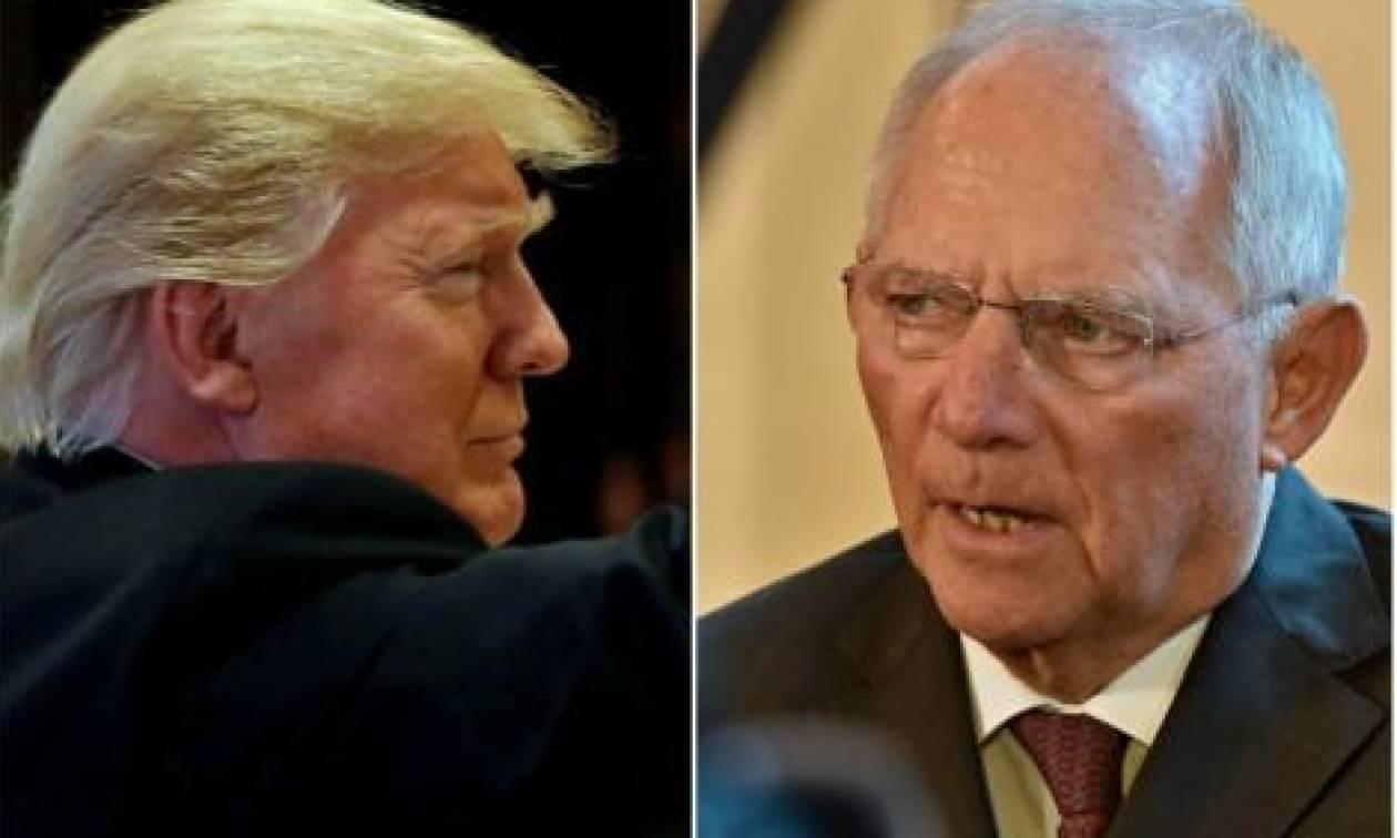 Ο Τραμπ ξεφτίλισε τον Σόιμπλε - Έξαλλος ο Γερμανός ΥΠΟΙΚ!