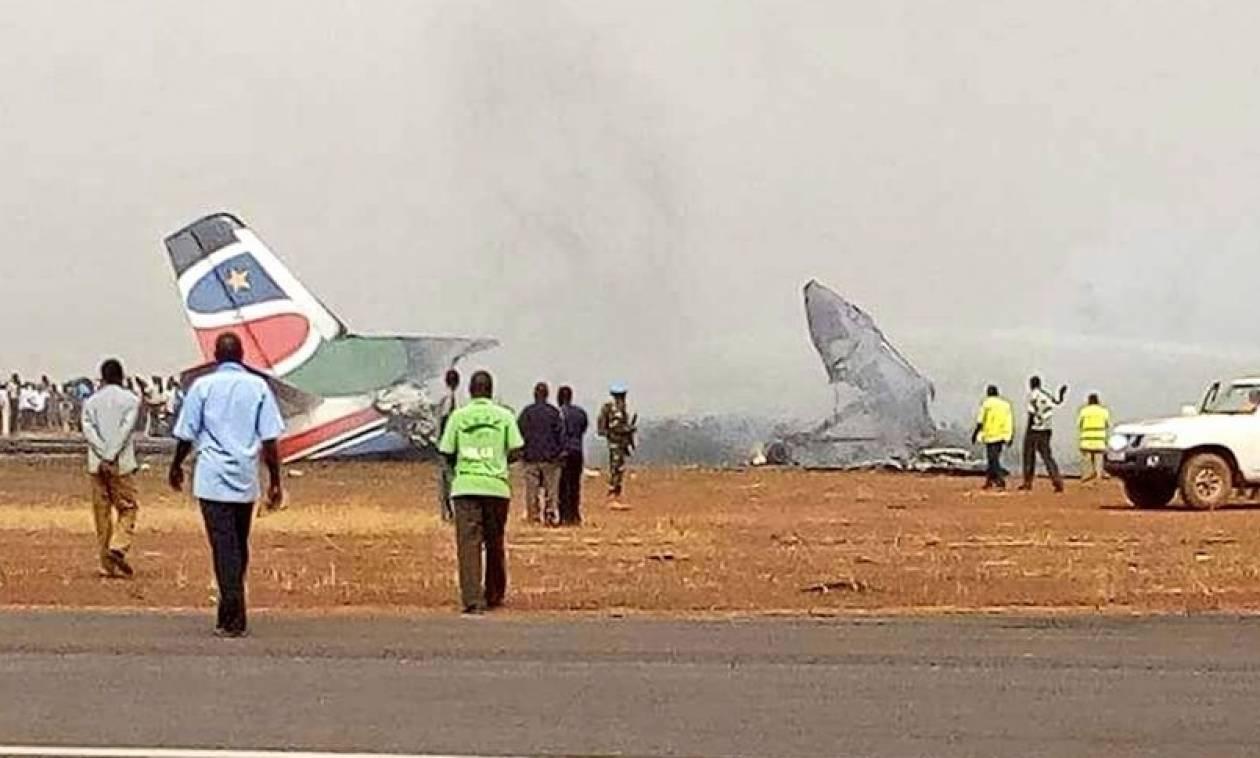Θρίλερ με συντριβή αεροσκάφους στο Νότιο Σουδάν - Πολλοί τραυματίες (pics)