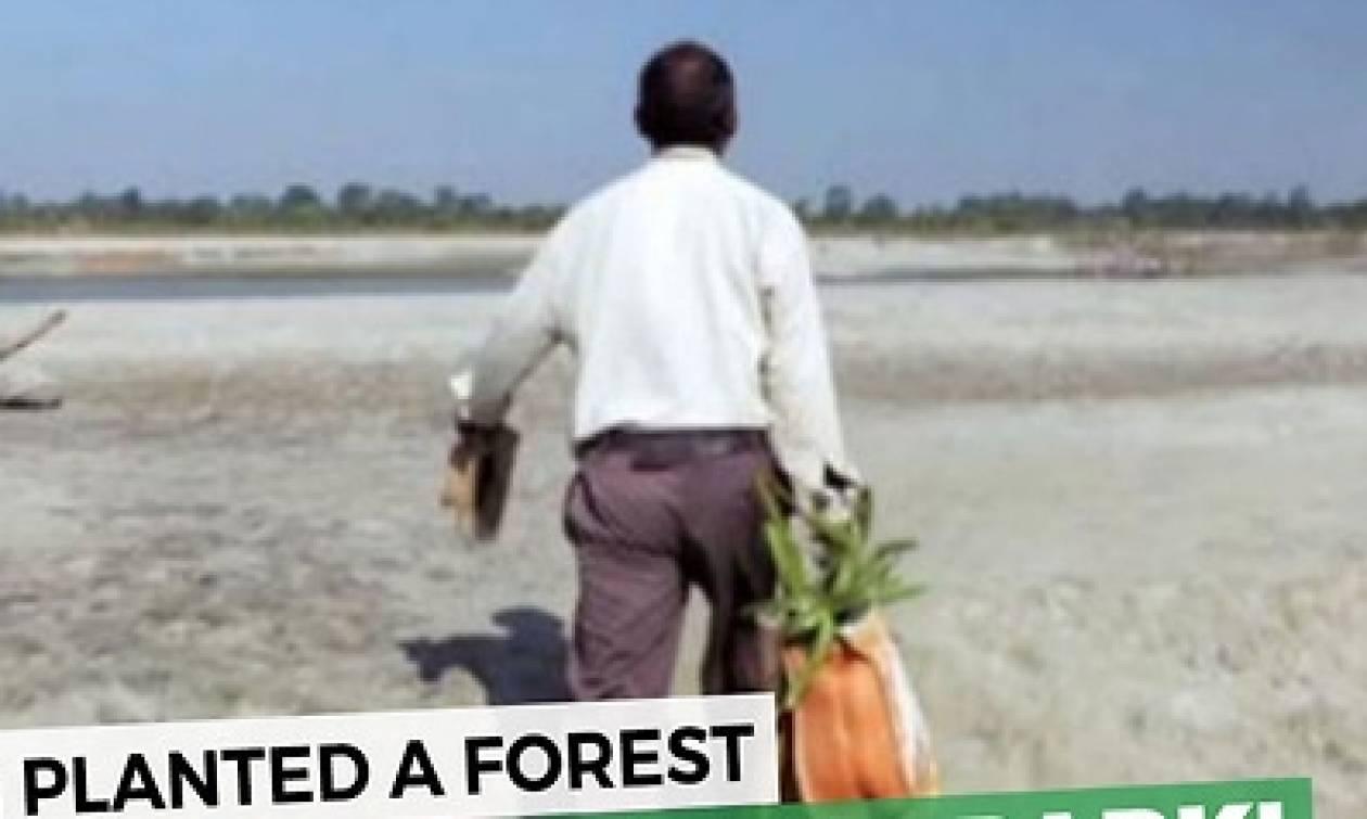 Φύτευε σ' ένα ερημονήσι κάθε μέρα από το 1979 ένα δέντρο. Αντέχετε να δείτε το αποτέλεσμα; (Video)
