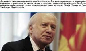 Μάθιου Νίμιτς: Tα Σκόπια είναι εκτεθειμένα σε υψηλό κίνδυνο