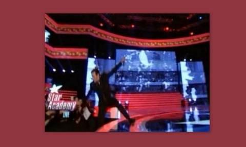 Star Academy: Η… κινηματογραφική τούμπα γνωστού τραγουδιστή την ώρα του live show!