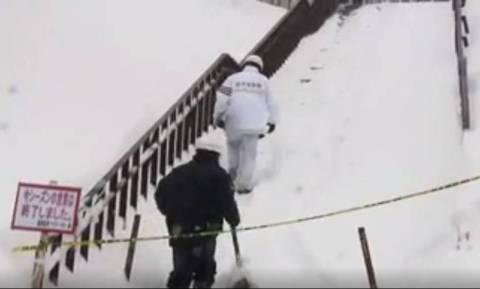 Eight school children feared dead in Japanese avalanche