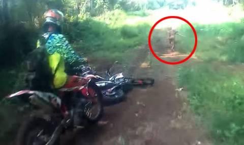 Τρόμος στη ζούγκλα: Του επιτέθηκε αυτό το μυστηριώδες πλάσμα και κανείς δεν ξέρει τι είναι! (video)