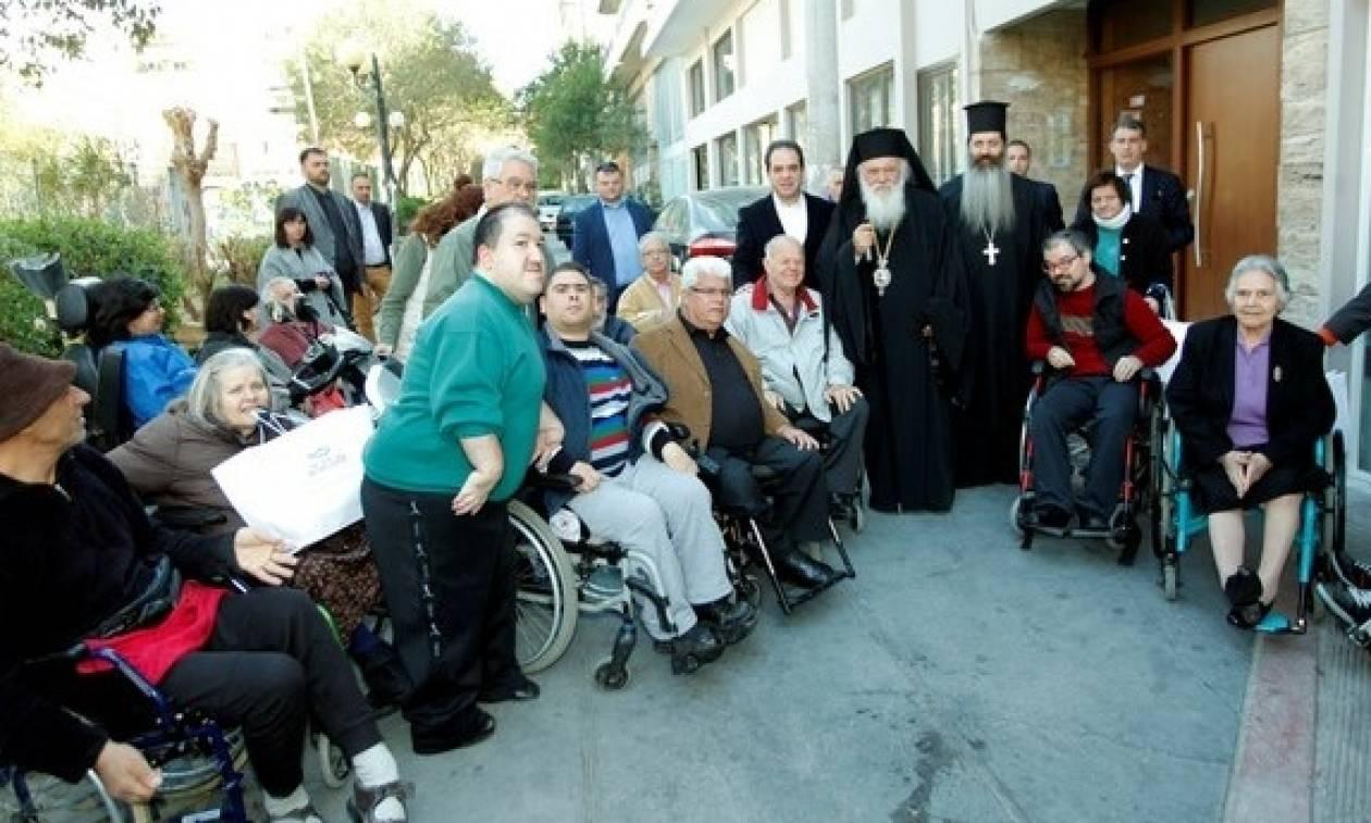 Ο Αρχιεπίσκοπος Ιερώνυμος στον Πανελλήνιο Σύλλογο Παραπληγικών
