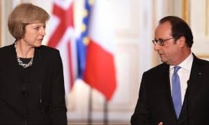 «Χαστούκι» Ολάντ προς Μέι: Καμία εμπορική συμφωνία έως την ολοκλήρωση του Brexit