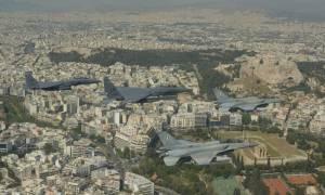 Πτήσεις μαχητικών πάνω από την Ακρόπολη