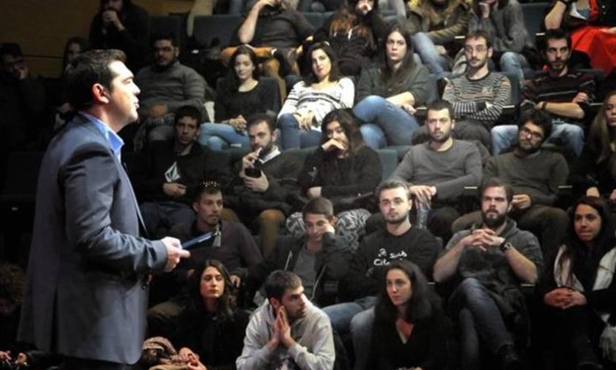 «Μασάζ» και στο συνέδριο της Νεολαίας του ΣΥΡΙΖΑ από τον Τσίπρα