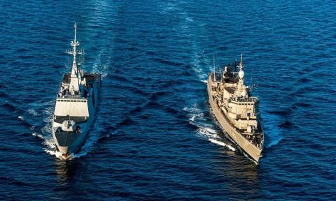 Συνεκπαίδευση του Πολεμικού Ναυτικού με το Γαλλικό Ναυτικό (pics)