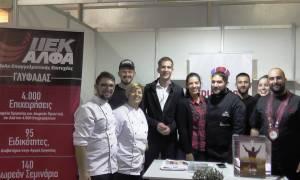 Ο Περιφερειάρχης Στερεάς Ελλάδας, Κώστας Μπακογιάννης, με τους σπουδαστές Μαγειρικής του ΙΕΚ ΑΛΦΑ