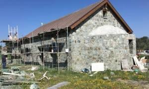 Φωτογραφίες από τις εργασίες στην εκκλησία του Άγιου Εφραίμ στο Μαθιάτη - Στις 4 Μαΐου τα θυρανοίξια
