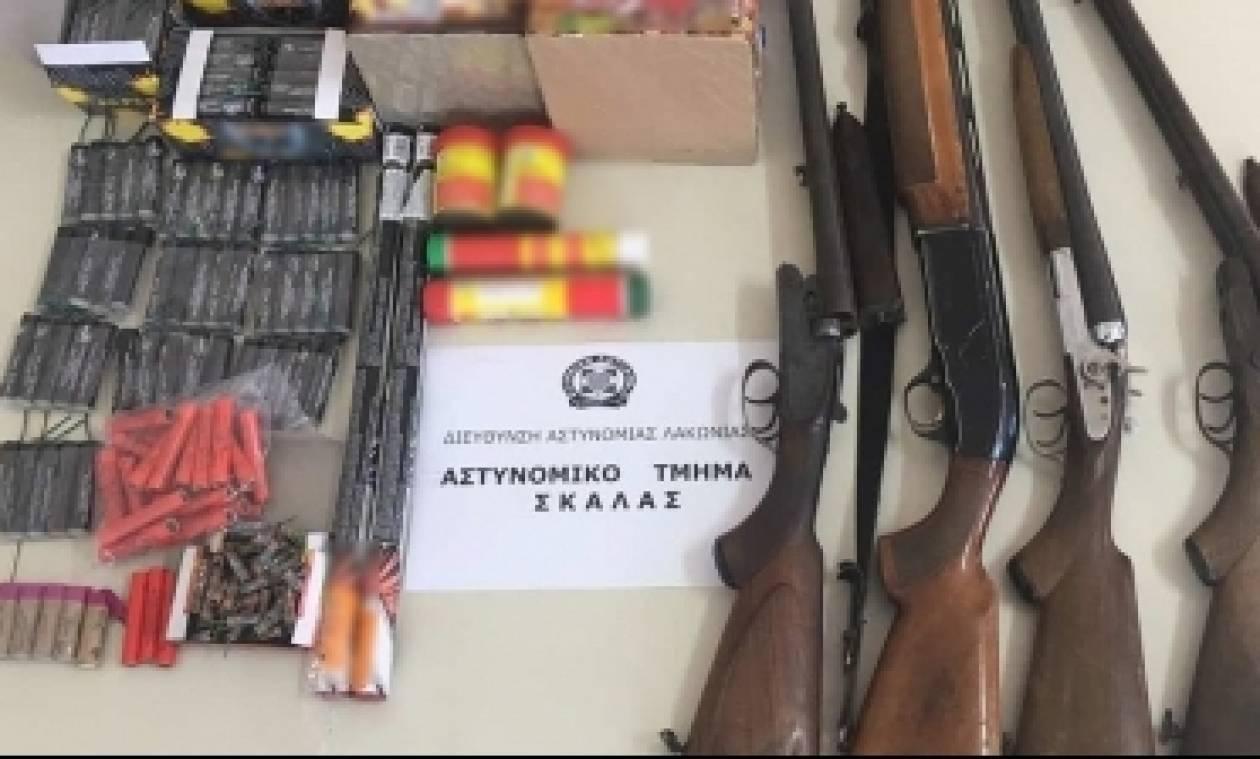 Συνελήφθησαν για 265 κροτίδες, πυροτεχνήματα και κυνηγετικά όπλα