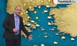 Καιρός: Η προειδοποίηση του Σάκη Αρναούτογλου: Πού θα χιονίσει την Παρασκευή (video)