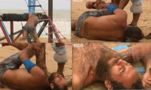 Survivor: Ο σοκαριστικός τραυματισμός του Αναγνωστόπουλου στο γόνατο