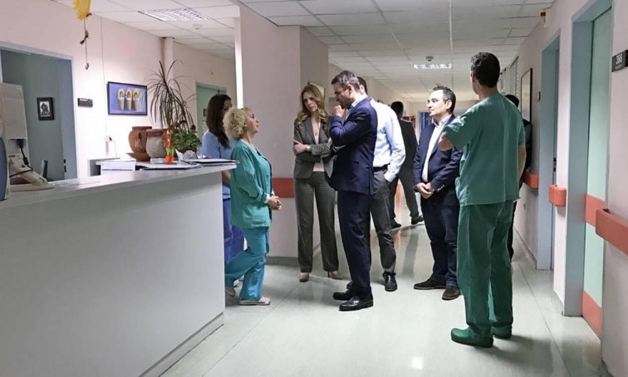 Αιφνιδιαστική επίσκεψη Κυριάκου Μητσοτάκη στο Νοσοκομείο Παίδων «Αγία Σοφία» (video)