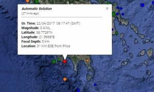 Σεισμός στην Κορώνη